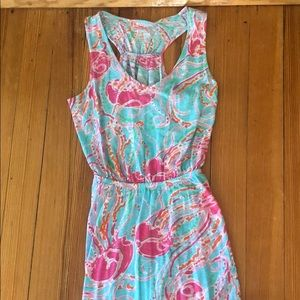 Lilly Pulitizer Mills Racer Back maxi dress